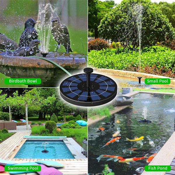 Ankway Solar Fountain Pump for Bird Bath, 2.5W Battery, Floating Solar Powered Water Fountain Pump for Small Pond, Fish Tank