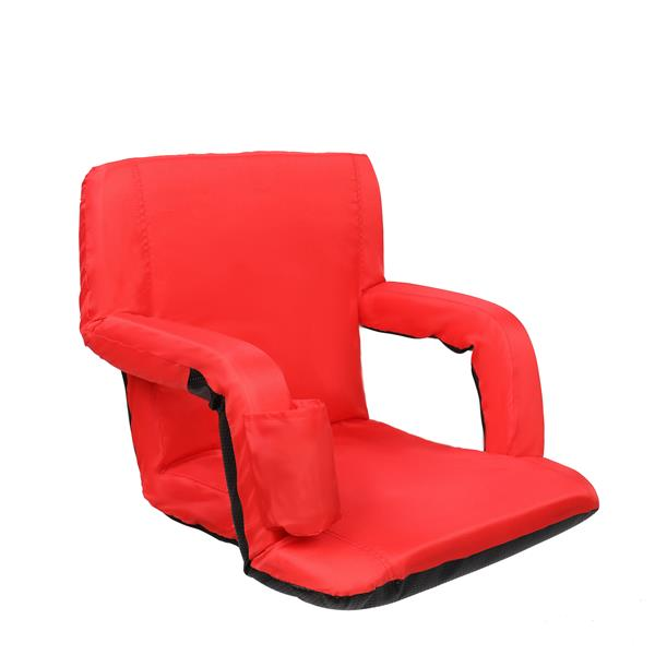"2pcs 21"" Stadium Seat Cushion Stand Chair Simple Model Red"