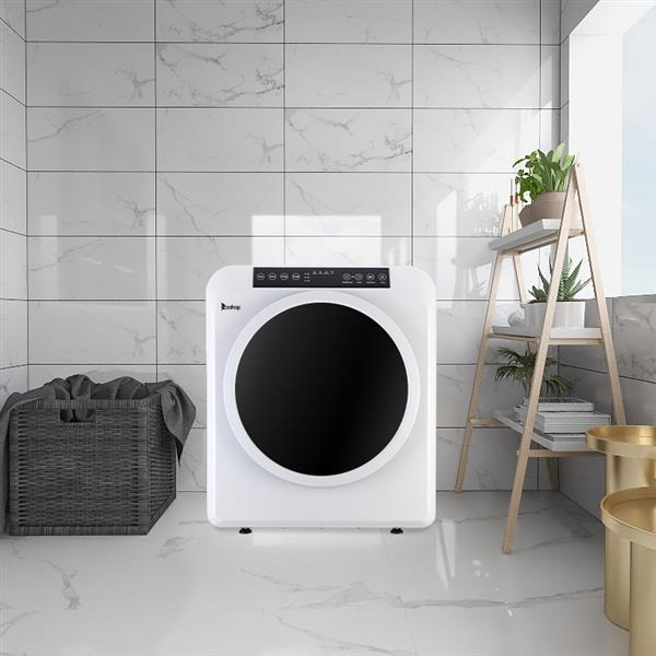 ZOKOP GDZ60-618E Upgraded LCD Screen   Ultraviolet Sterilization Household Dryer 6kg Drum Dryer   2 Pieces Of Filter Cotton-White