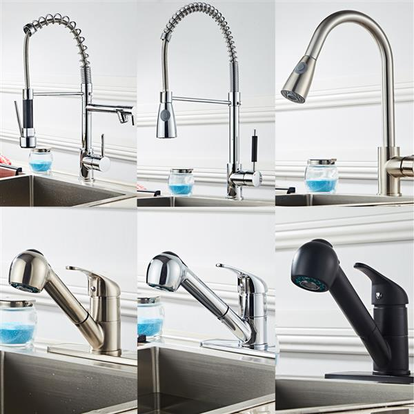 All Copper Kitchen Pull Drawbench Faucet
