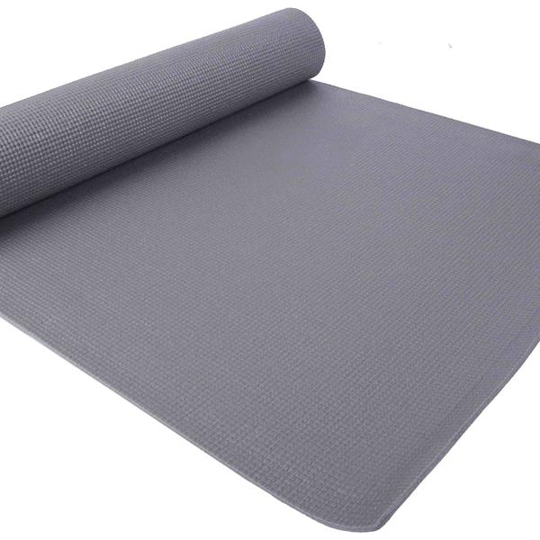 BalanceFrom GoYoga All Purpose High Density Non-Slip Exercise Yoga Mat with Carrying Strap,Gray