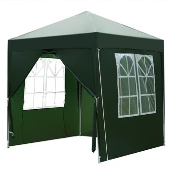 2 x 2m Two Doors & Two Windows Practical Waterproof Right-Angle Folding Tent Green