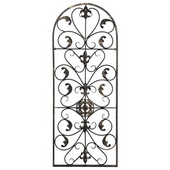 "41.5"" Semi-Circular Retro Decorative Spanish Arch Wall Art Victorian Style Iron Ornament"