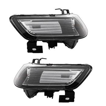 Set of (2) Headlights Halogen  Factory Black Clear for 2004-2008 Acura TSX