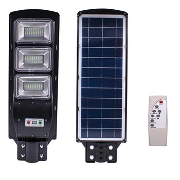 90W 180-LED Solar Sensor Outdoor Light with Light Control and Radar Built-In Sensor Black