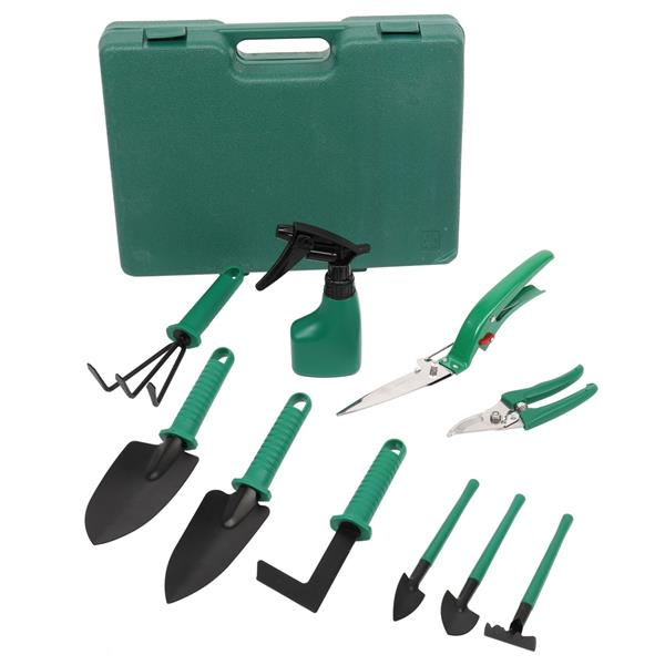 7PC-Green Iron Chair Gardening Toolkit
