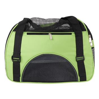 Hollow-out Portable Breathable Waterproof Pet Handbag Green S