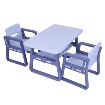 Kids Table and Chairs Set - Toddler Activity Chair Best for Toddlers Lego, Reading, Train, Art Play-Room (2 Childrens Seats with 1 Tables Sets) Little Kid Children Furniture Accessories purple