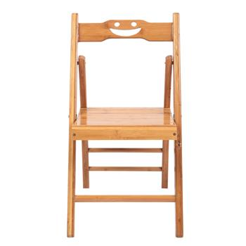 2 Pcs Smiley Folding Chair Burlywood