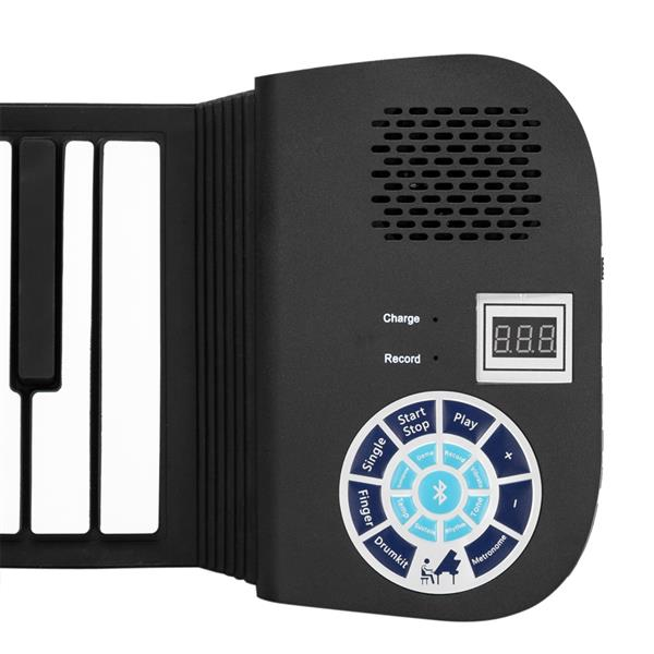 88 Keys Roll Up Piano Built-In Speaker With Bluetooth Built-In Rechargeable Battery For Beginners Gift