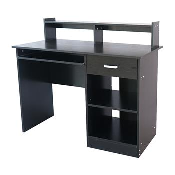 General Style Modern E1 15MM Chipboard Computer Desk Black