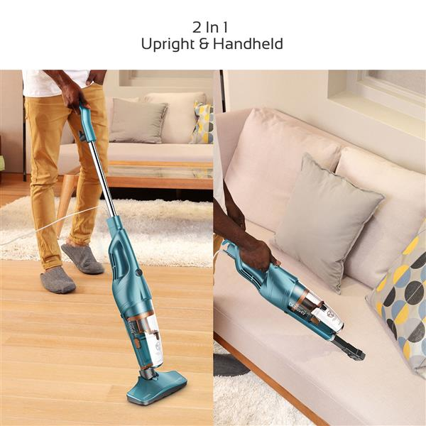 DEERMA 2 in 1 Vacuum Cleaner Lightweight Corded Upright Stick and Handheld with Stainless Steel Filter