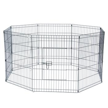 """30"""" Tall Wire Fence Pet Dog Cat Folding Exercise Yard 8 Panel Metal Play Pen"""