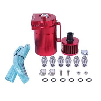 Round Oil Catch Tank Oil Catch Tank with Air Filter Red