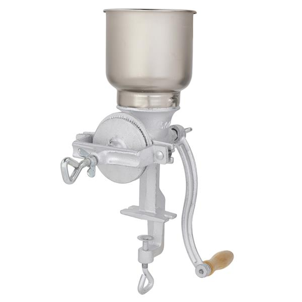 500# Home Use Hand Cranking Operation Grain Grinder Silver