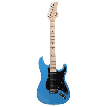 [Do Not Sell on Amazon]Glarry GST Stylish Electric Guitar Kit with Black Pickguard Sky Blue