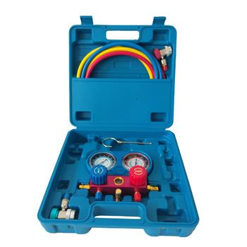 R134A Manifold Gauge Set AC A/C 5FT Colored Hose Air Conditioner