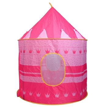 Portable Folding Blue Play Tent Children Kids Castle Cubby Play House Pink