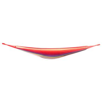200*80cm Portable Polyester & Cotton Hammock Red Strip