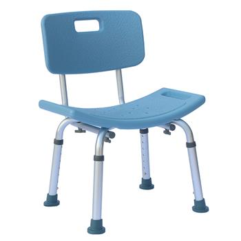 FCH Medical Bathroom Safety Shower Tub Aluminium Alloy Bath Chair Seat Bench with Removable Back Blue