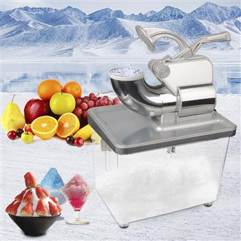 ZOKOP BY-300XTD 120V 350W Commercial Removable Dual Blades Electric Ice Crusher Silver