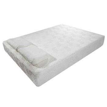 """10"""" Two Layers Traditional Firm High Softness Cotton Mattress with 2 Pillows (Queen Size) White"""