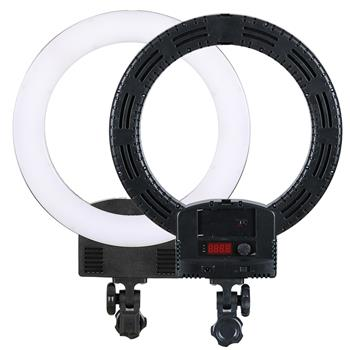 """12"""" Upgrade Ultra-thin Infinity Dimming Double Color Temperature LED Ring Lamp Black(Do Not Sell on Amazon)"""