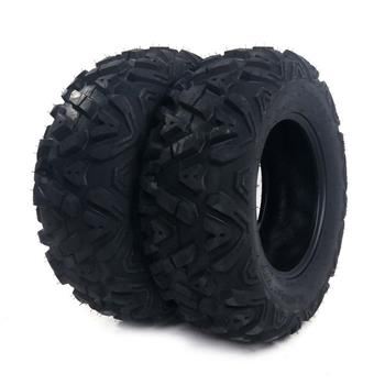 "2 New TIRE SET ATV TIRES 6 PLY 25"" 25x8x12  with warranty"