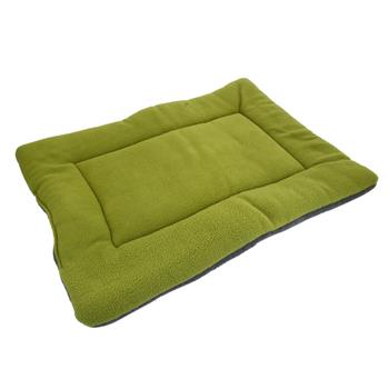 Washable Soft Comfortable Silk Wadding Bed Pad Mat Cushion for Pet Green L