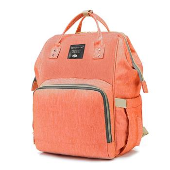 Baby Diaper Bag Multi-Function Travel Backpack Baby Nappy Changing Mommy Bags Orange Pink