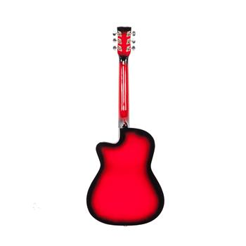 DK-38C Basswood Guitar   Bag   Straps   Picks   LCD Tuner   Pickguard   String Set Red