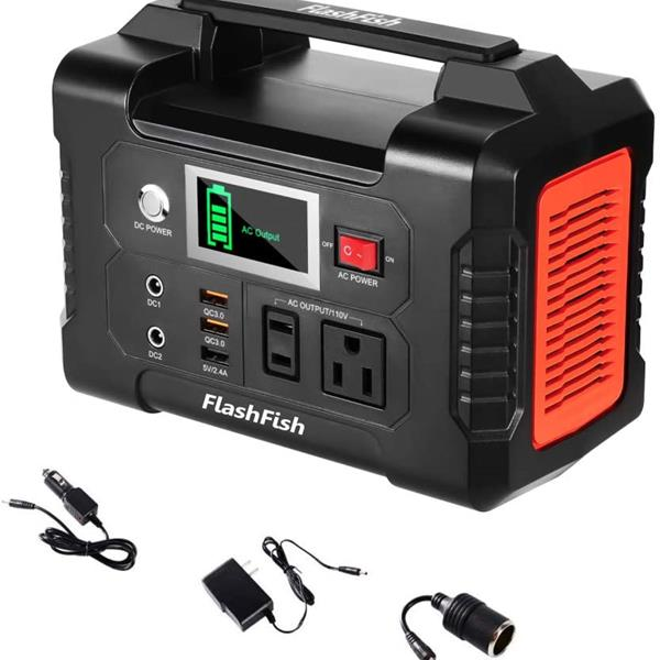 Ban on Amazon platform sales200W Portable Power Station, FlashFish 40800mAh Solar Generator with 110V AC Outlet/2 DC Ports/3 USB Ports, Backup Battery Pack Power Supply for CPAP