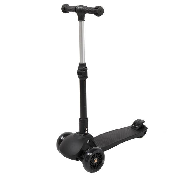 Foldable Three Wheel Scooter Black