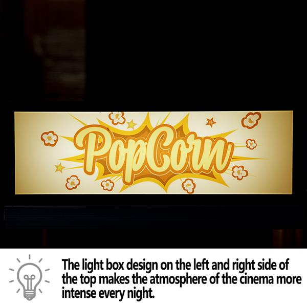 ZOKOP ZPM-B 850W  120V-60HZ 8oz Retro Single Door Popcorn Machine Countertop / Countertop Half Machine Black
