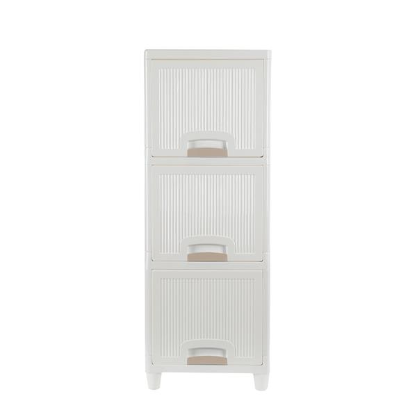 3-Tire Storage Cabinet with 2 Drawers Organizer Unit for Bathroom Bedroom