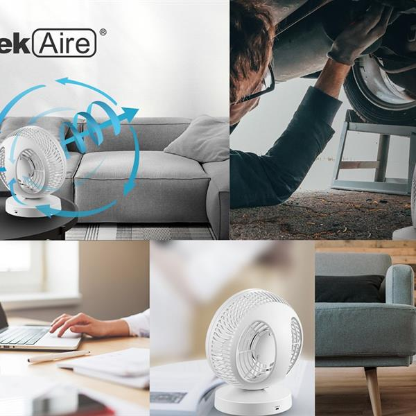 Ban on Amazon platform salesGeek Aire Portable table fan, rechargeable, 5 Speed Settings, WIFI function, Compatible with Alexa & Google Home supported, white