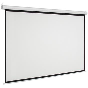 "Leadzm 92"" 16:9 80"" x 45"" Viewing Area Motorized Projector Screen with Remote Control Matte White"