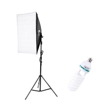 Kshioe 135W Bulb 5070 Single Head Soft Light Box One Light Set UK Plug