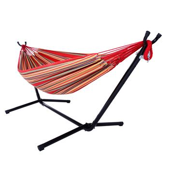 Portable Outdoor Polyester Hammock Set Red