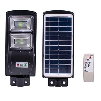 60W 120-LED Solar Sensor Outdoor Light with Light Control and Radar Built-In Sensor Black