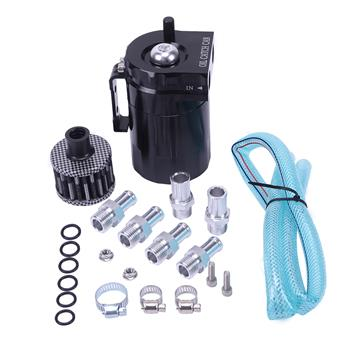 Round Oil Catch Tank Oil Catch Tank with Air Filter Black