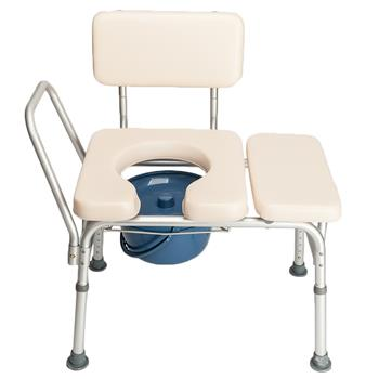 Multifunctional Aluminum Elder People Disabled People Pregnant Women Commode Chair Bath Chair Creamy White