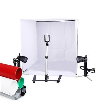Kshioe 60cm Shelves Mini Studio Set Black & White & Red & Blue(Do Not Sell on Amazon)