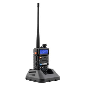 """BAOFENG 1.5"""" LCD 5W 136-174/200-260/400-520MHz Three Band Walkie Talkie with 1-LED Flashlight (Black) (Do Not Sell on Amazon)"""