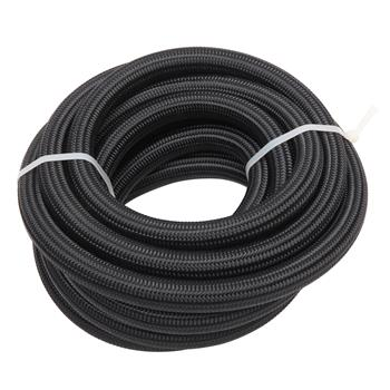 10AN 20-Foot Universal Stainless Steel Braided Fuel Hose Black