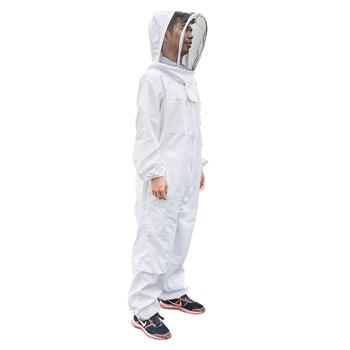 New Professional Polyester Cotton Full Body Beekeeping Suit with Veil Hood Size XXL