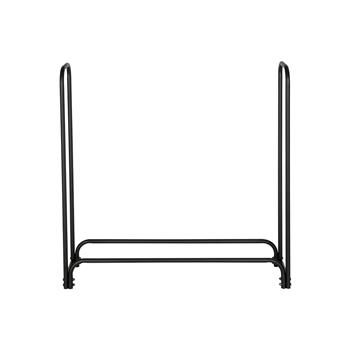 Artisasset Black Sand Pattern Single Layer 4 Feet Long 46 Inches High Indoor And Outdoor Wrought Iron Fireplace Firewood Stand