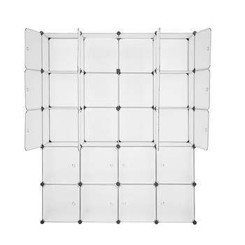 20 Storage Cube Organizer Plastic Cubby Shelving Drawer Unit, DIY Modular Bookcase Closet System Cabinet with Translucent Design for Clothes, Shoes, Toys