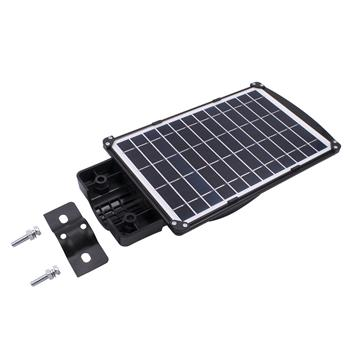 90W 180-LED Solar Sensor Outdoor Light with Light Control and Radar Sensor Black