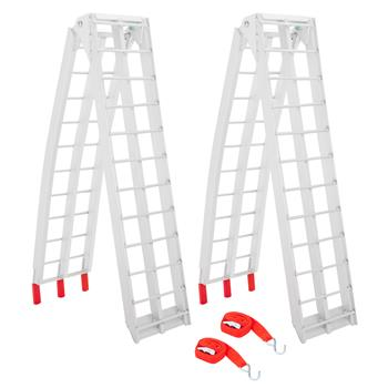 1 Pair 7.5 Feet Aluminum Truck Ramps/ATV Ramps/Motorcycle Ramp/Loading Ramps for Lawn Mower/Pickup Trucks/Snow   Blower 1500lb Capacity